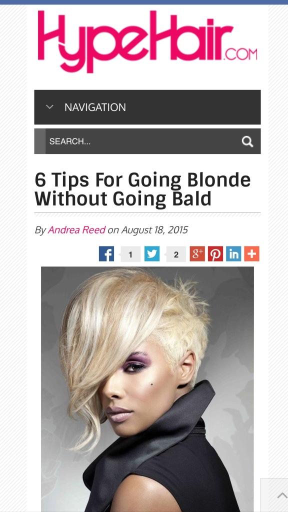 going blonde