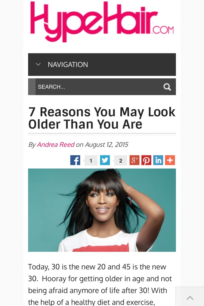 reasons you look older than you are