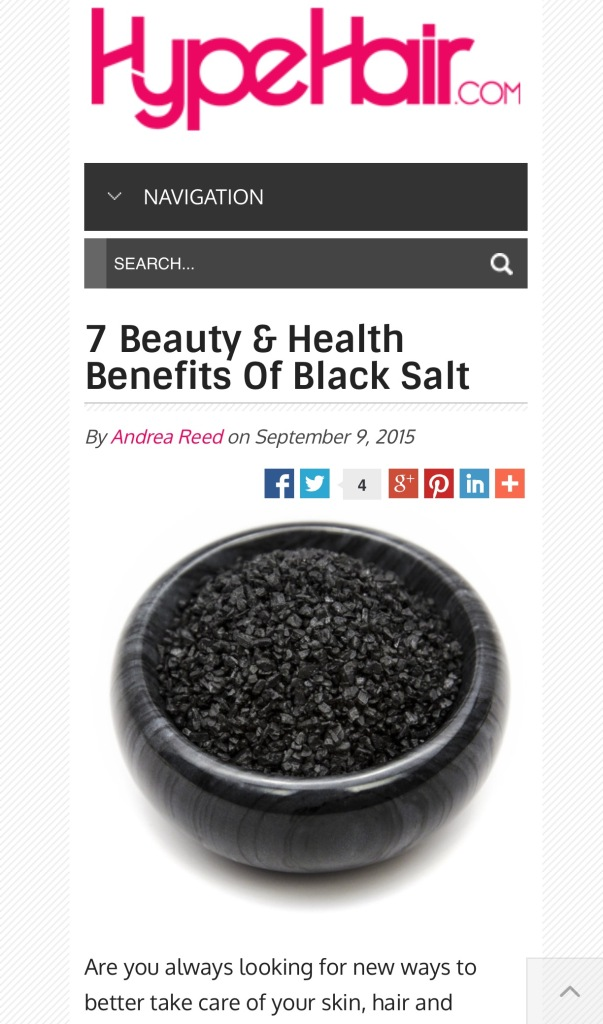 beneits of black salt