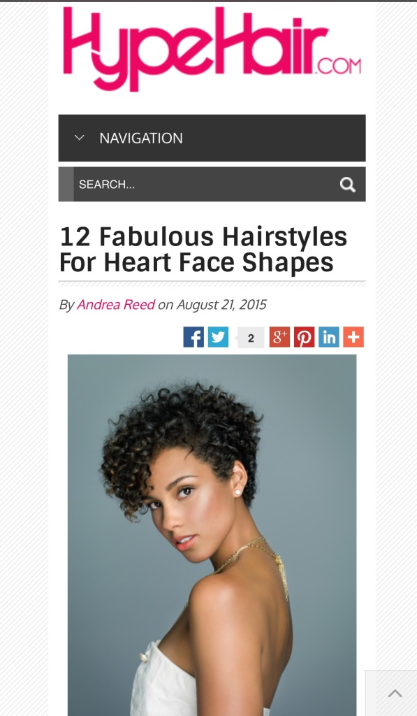 hairstyles for heart face shapes