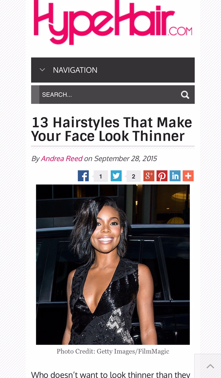 hairstyles to do with straight hair : 13 Hairstyles That Make Your Face Look Thinner ? Andrea C Reed