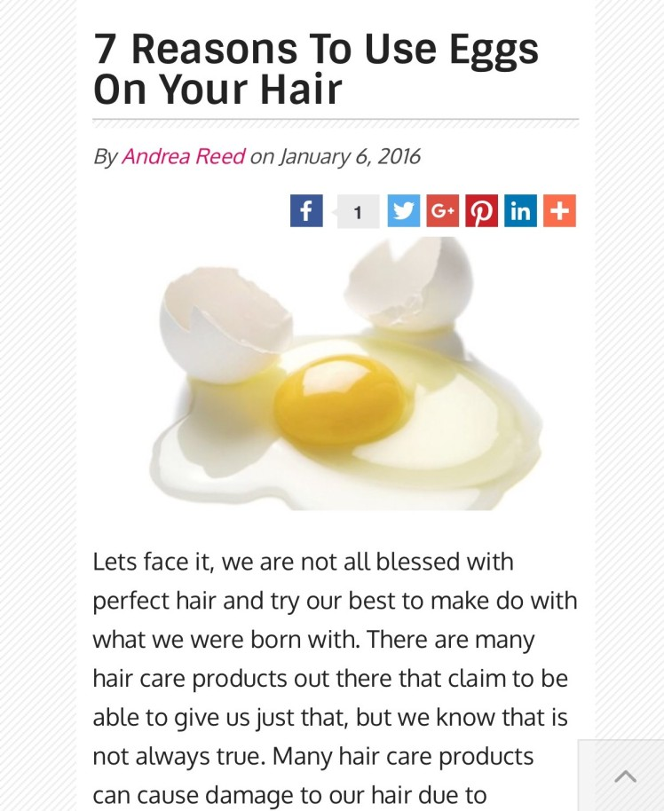 7 reasons to use egg on your hair