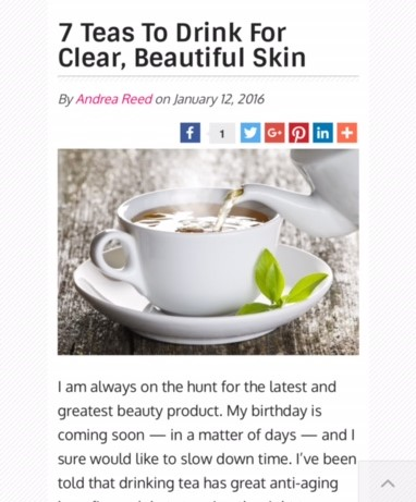 7 teas to drink for clear beautiful skin