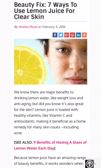 7 ways to use lemon juice for clear skin