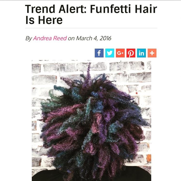 funfetti hair
