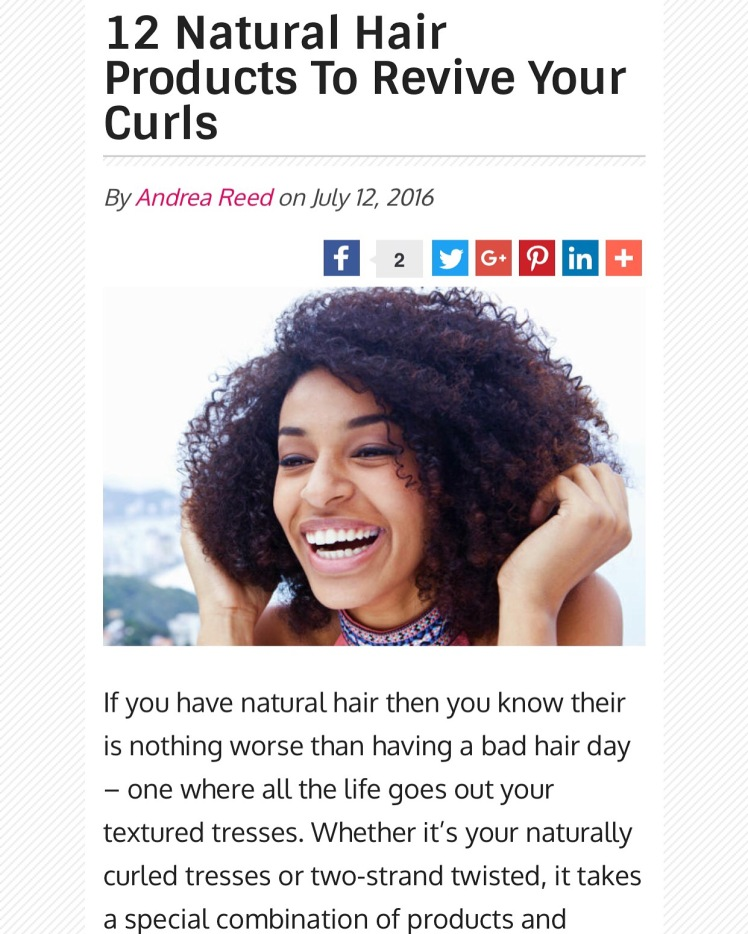 natural hair products to revivie curls
