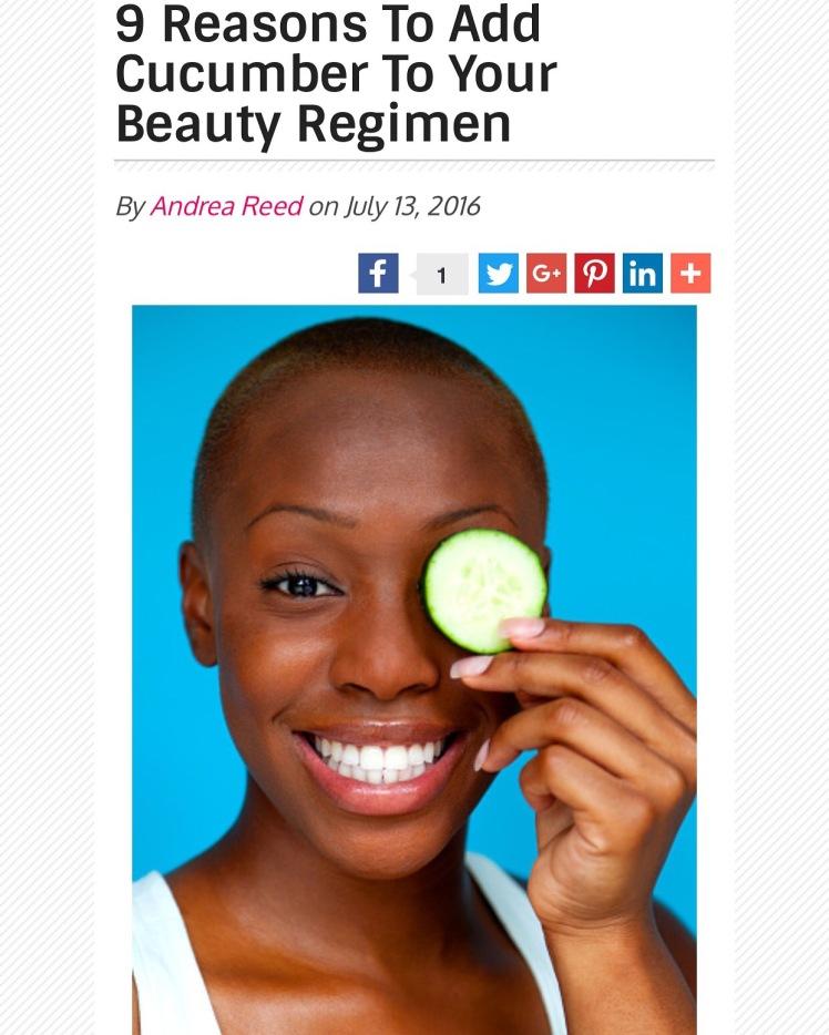 reasons to add cucumber to regimen